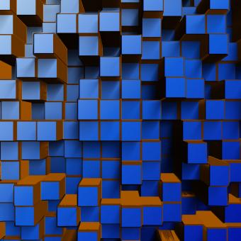 Free Stock Photo of 3D Abstract Squares