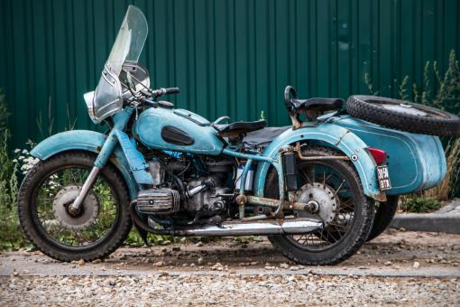Free Stock Photo of Old Motorcycle