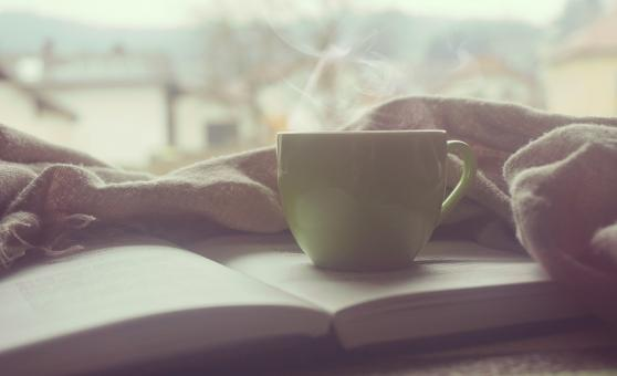 Free Stock Photo of Coffee on the Book