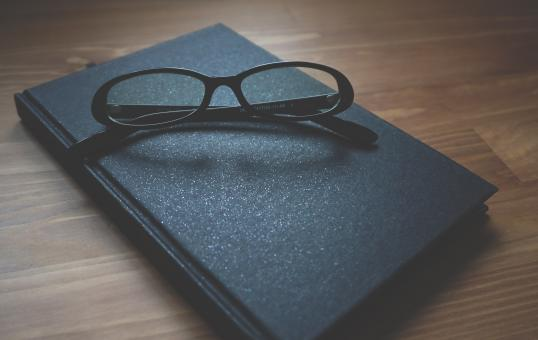 Free Stock Photo of Glasses on the Diary