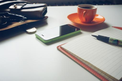 Free Stock Photo of Diary on the Table