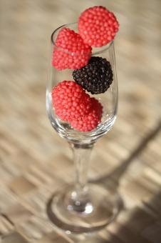 Free Stock Photo of Berries in the Glass