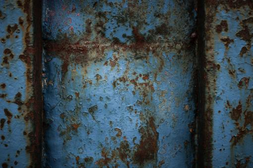 Free Stock Photo of Rusty Blue Metal Texture