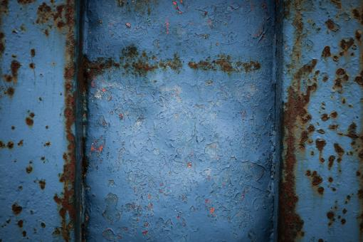 Free Stock Photo of Blue Corroded Metal Texture