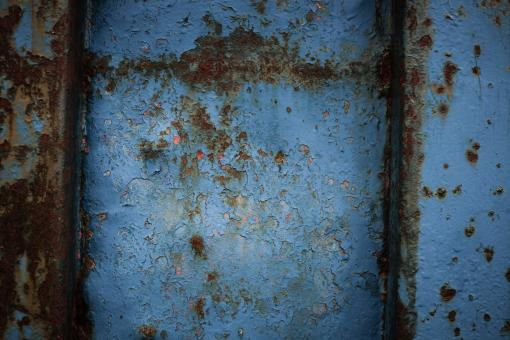 Free Stock Photo of Blue Rusty Metal Texture