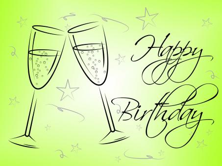 Free Stock Photo of Happy Birthday Glasses Indicates Celebrating Celebration And Party