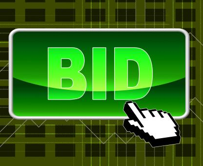 Free Stock Photo of Bid Button Represents World Wide Web And Auction