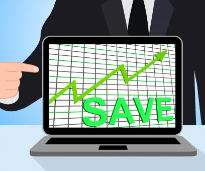 Free Stock Photo of Save Chart Graph Displays Increasing Savings Investment
