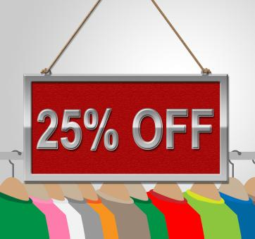 Free Stock Photo of Twenty Five Percent Represents Message Promotion And Garment