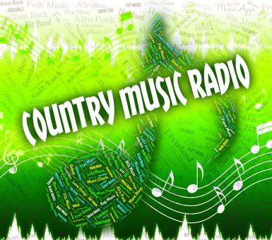 Free Stock Photo of Country Music Radio Represents Sound Track And Acoustic