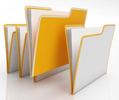 Free Stock Photo of Files Shows Organising And Paperwork