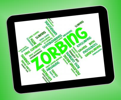 Free Stock Photo of Zorbing Word Indicates Wordcloud Zorber And Rolling