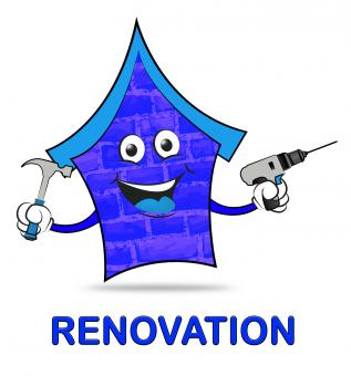 Free Stock Photo of House Renovation Indicates Real Estate And Homes