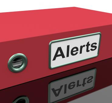 Free Stock Photo of Alerts File Indicates Warning Organized And Paperwork