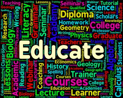 Free Stock Photo of Educate Word Represents Words Studying And Educating