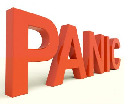 Free Stock Photo of Panic Word As Symbol for Emergency And Stress