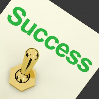 Free Stock Photo of Switch With Success Text As Symbol Of Winning And Victory