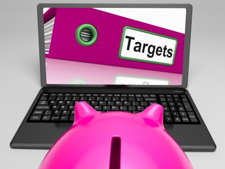 Free Stock Photo of Targets Laptop Means Aims Objectives And Goal setting
