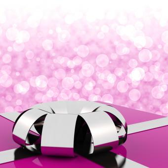 Free Stock Photo of Pink Giftbox With Bokeh Background For Womens Birthday