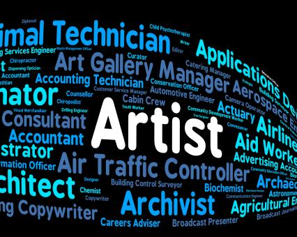 Free Stock Photo of Artist Job Shows Hire Painter And Artwork