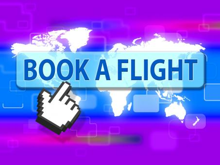 Free Stock Photo of Book Flight Indicates Reserved Plane And Travel