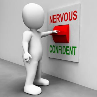 Free Stock Photo of Nervous Confident Switch Shows Nerves Or Confidence