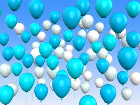Free Stock Photo of Floating Light Blue And White Balloons Mean Argentinean Flag Or Festiv