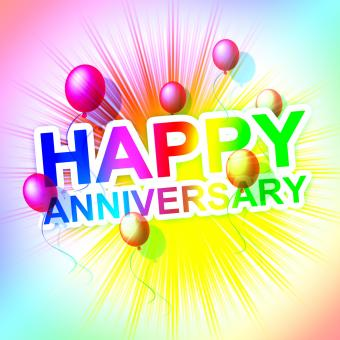 Free Stock Photo of Happy Anniversary Represents Cheerful Greeting And Celebrate