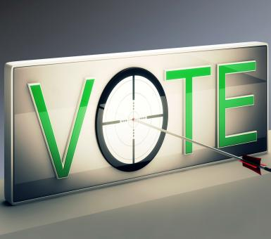Free Stock Photo of Vote Target Shows Options Or Choices