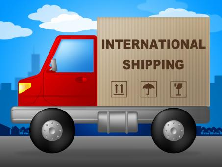 Free Stock Photo of International Shipping Indicates Across The Globe And Countries