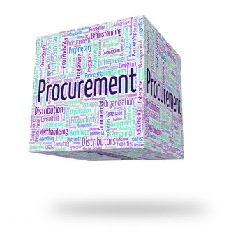 Free Stock Photo of Procurement Word Represents Wordcloud Acquisition And Text
