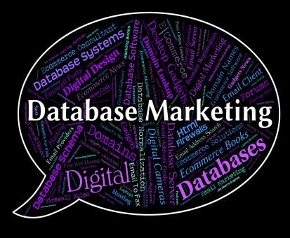 Free Stock Photo of Database Marketing Represents Sales Words And Computing