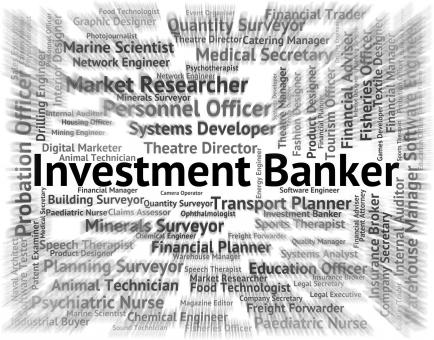 Free Stock Photo of Investment Banker Indicates Return Word And Banking