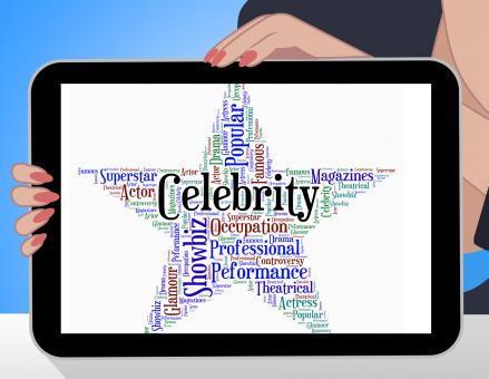 Free Stock Photo of Celebrity Star Indicates Famed Stardom And Wordcloud