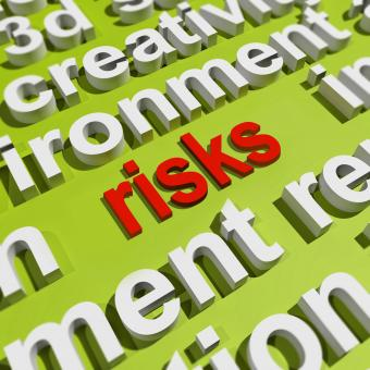 Free Stock Photo of Risks In Word Cloud Shows Investment Risks And Economy Crisis
