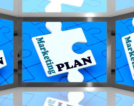 Free Stock Photo of Marketing Plan On Screen Shows Marketing Strategies