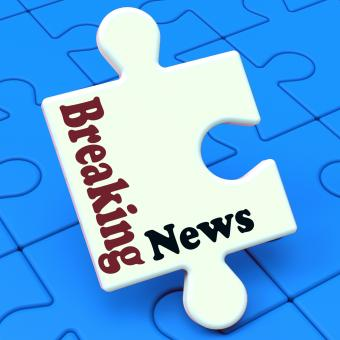 Free Stock Photo of Breaking News Puzzle Shows Newsflash Broadcast Or Newscast