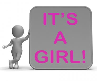 Free Stock Photo of Its A Girl Sign Means Announcing Female Baby