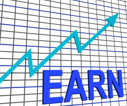 Free Stock Photo of Earn Graph Chart Shows Increase Earnings Growing