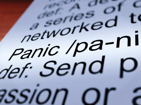 Free Stock Photo of Panic Definition Closeup Showing Hysteria
