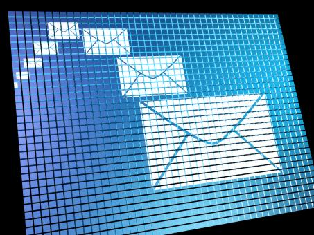 Free Stock Photo of Email Envelopes Being Received On Computer Screen Showing Emailing Or