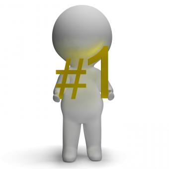 Free Stock Photo of Number One 3d Character Showing First Place