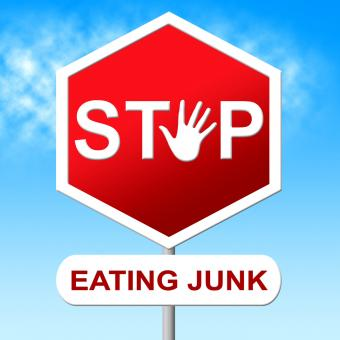 Free Stock Photo of Stop Eating Junk Means Unhealthy Food And Danger