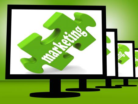 Free Stock Photo of Marketing On Monitors Shows Advertisement