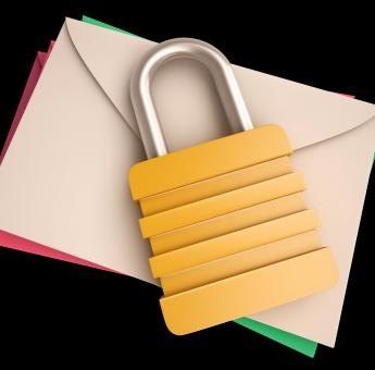 Free Stock Photo of Lock Over Letters Shows Correspondence Safety