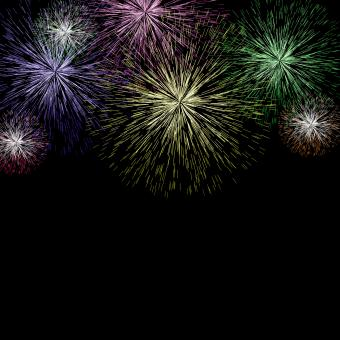 Free Stock Photo of Exploding Fireworks Background For New Years Or Independence Celebrati