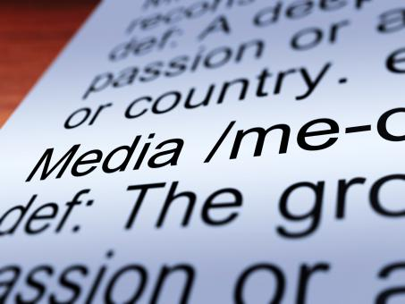 Free Stock Photo of Media Definition Closeup Showing Communication