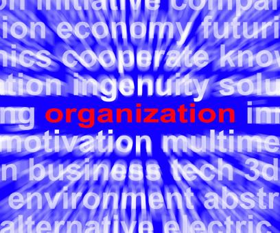 Free Stock Photo of Organization Word Shows Institution Or Be Organized