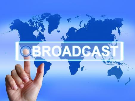 Free Stock Photo of Broadcast Map Shows International Broadcasting and Transmission of New