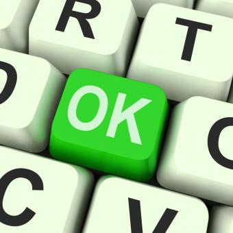 Free Stock Photo of Ok Key Means Correct Or Approval